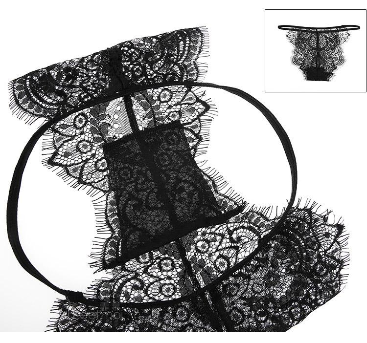 풍성한 꽃자수 가터벨트 브라세트