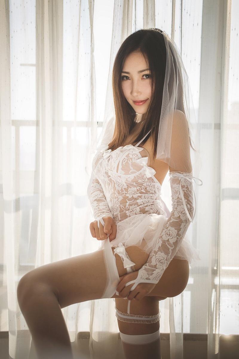 섹시 웨딩 미니원피스